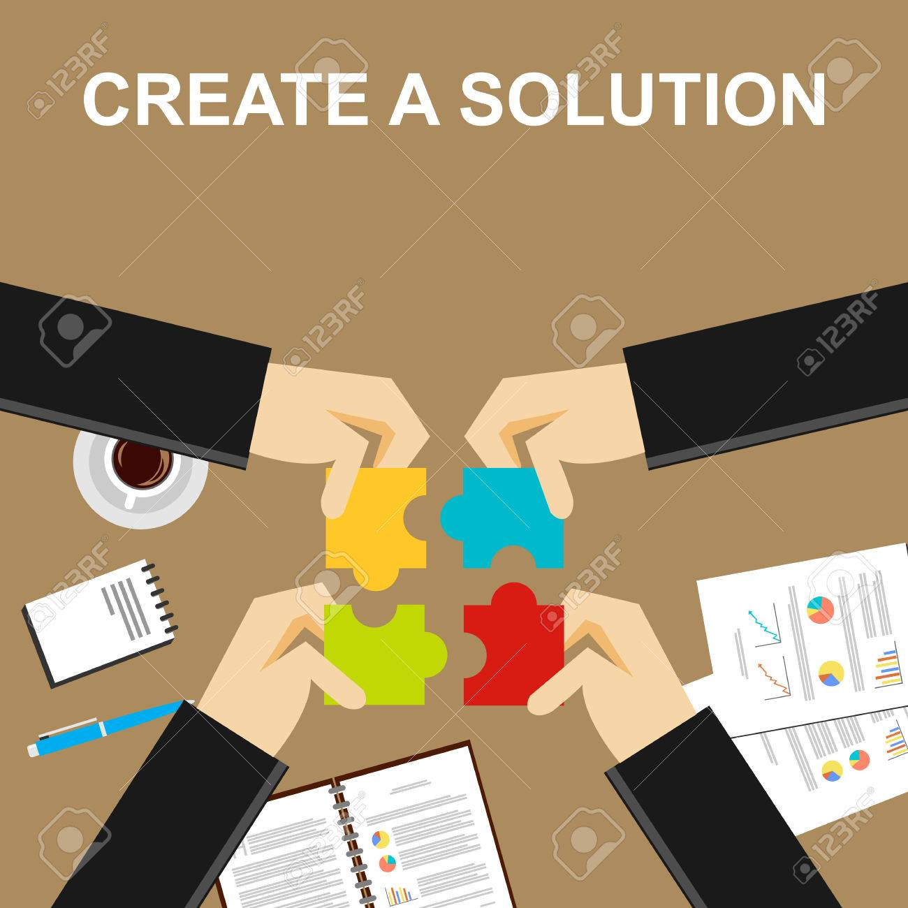 define images stock pictures royalty define photos and define create a solution illustration making a solution concept business people puzzle