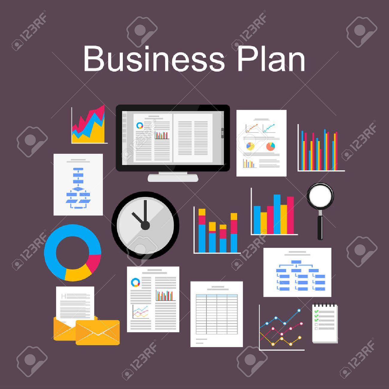 diseño plano concepto ejemplo de plan de negocios grupo de