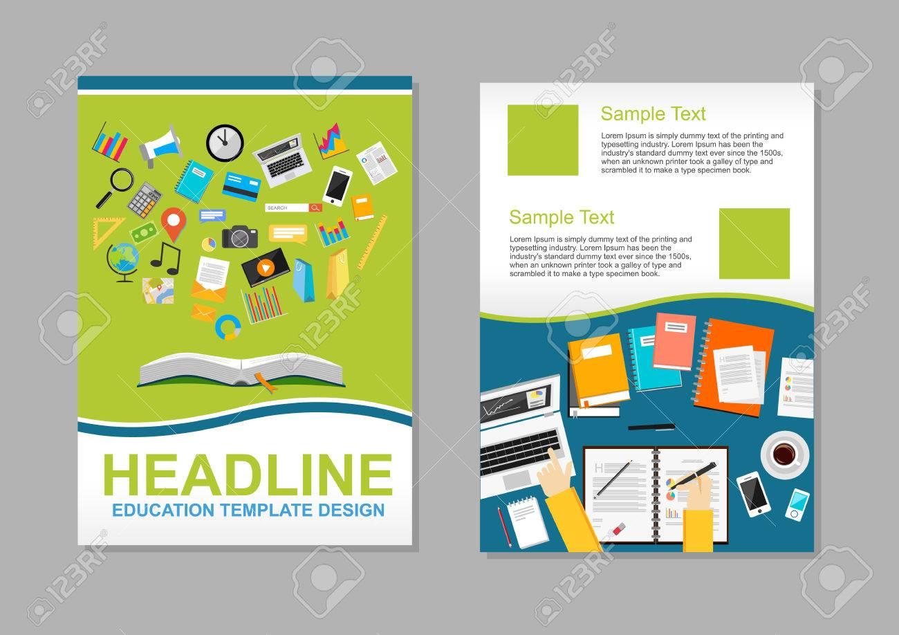 set of flyer design template education infographic elements brochure template stock vector - Flyer Design Ideas