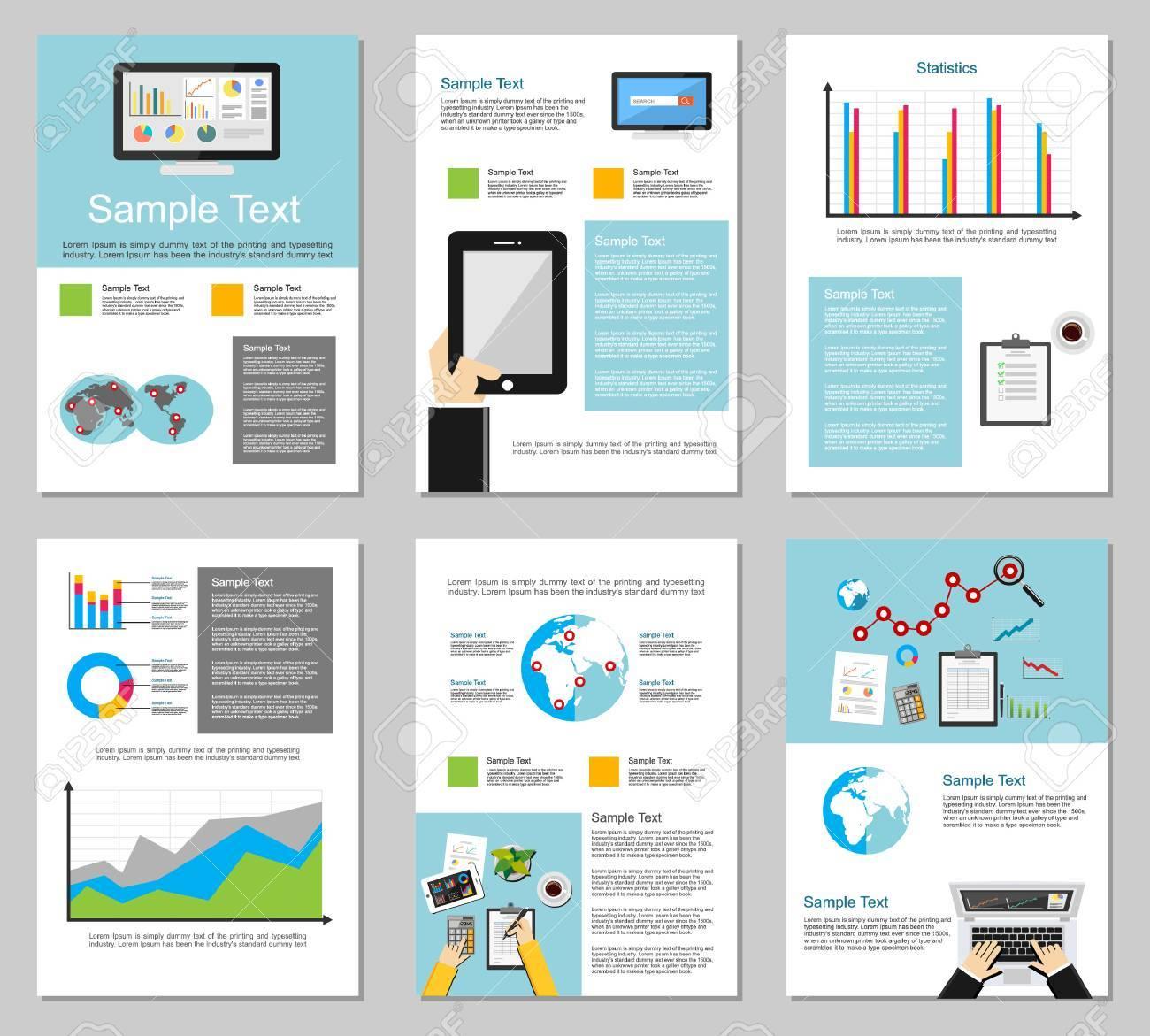 Business Infografik-Elemente. Business-Hintergrund. Broschüre ...