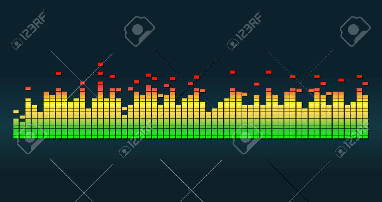 Graphic equalizer vector illustration