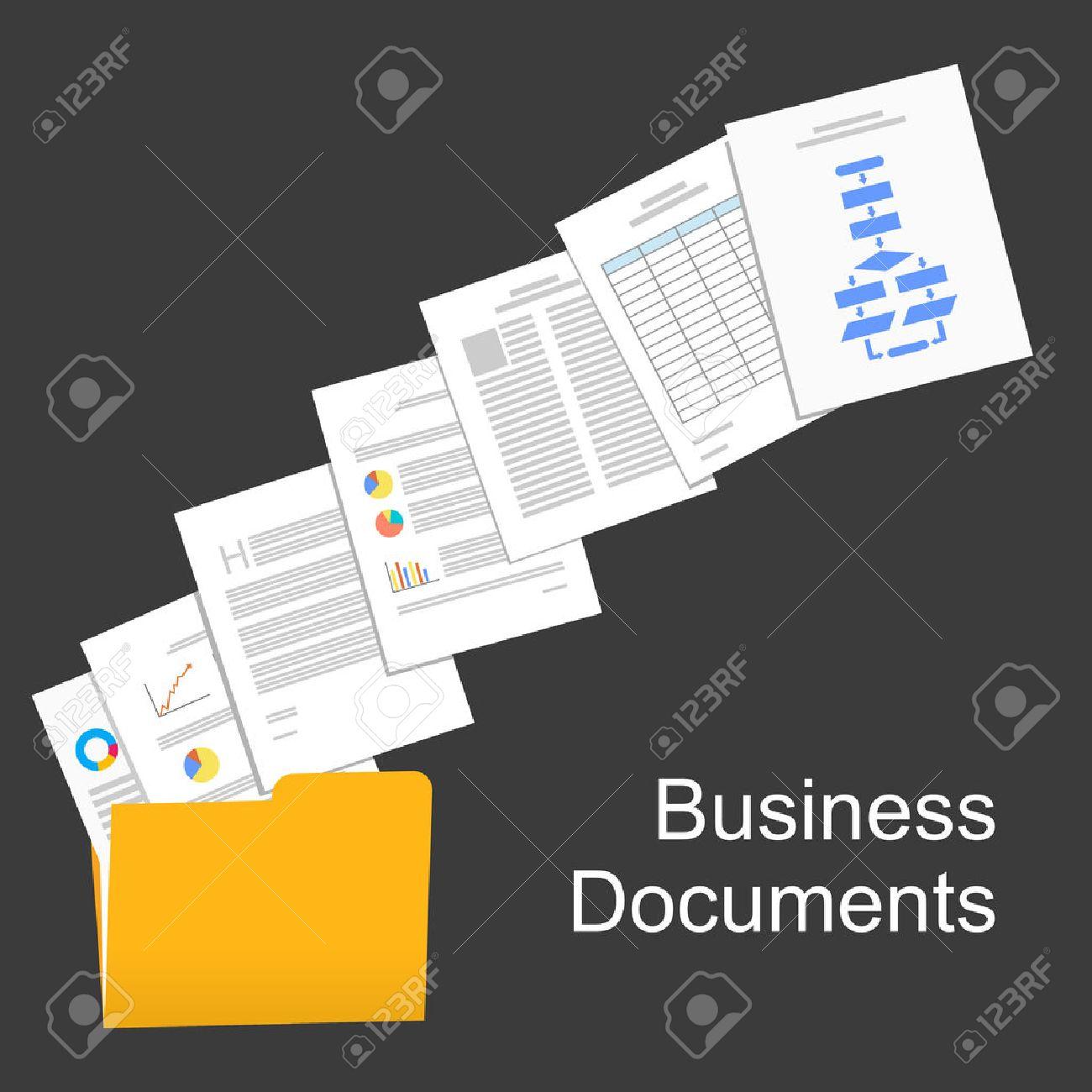 Flat design illustration for business documents, business report, business documents, working, management. - 44039336