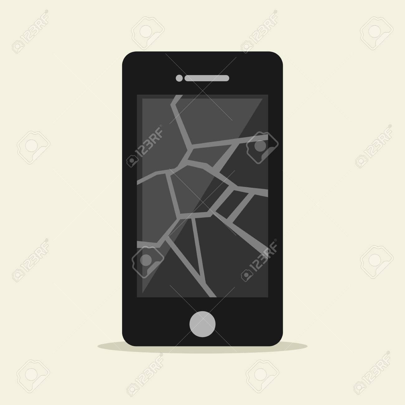 crack screen on phone