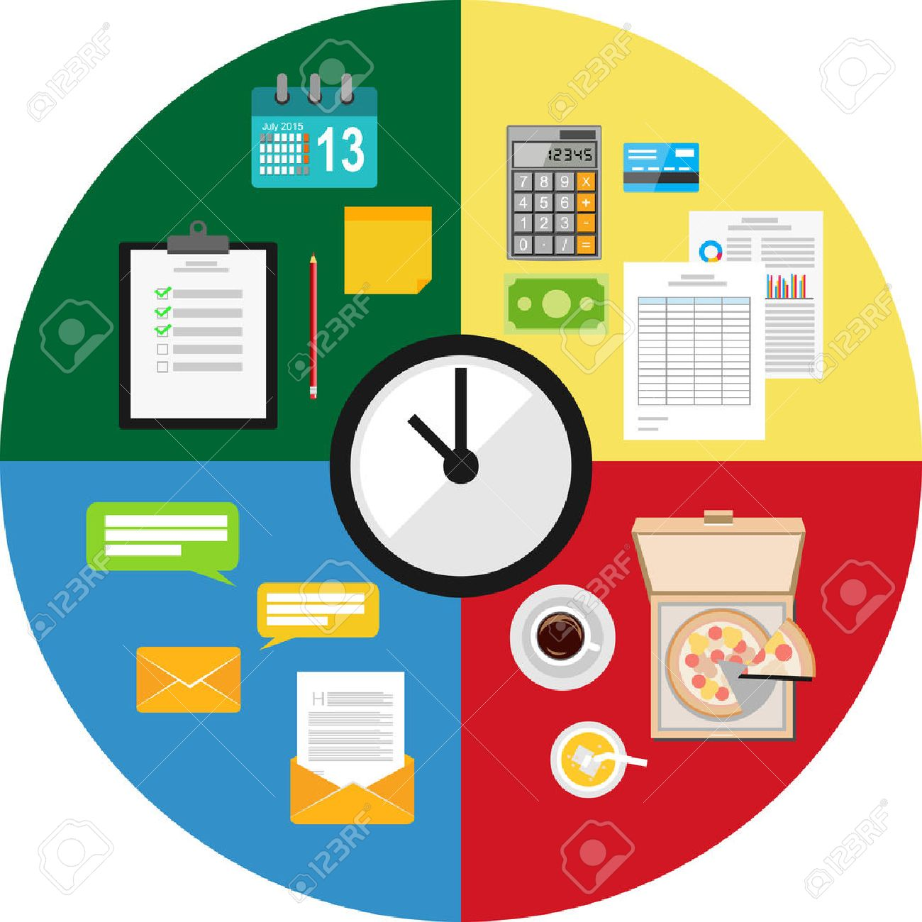 Time Management Concept Illustration Royalty Free Cliparts – Time Management