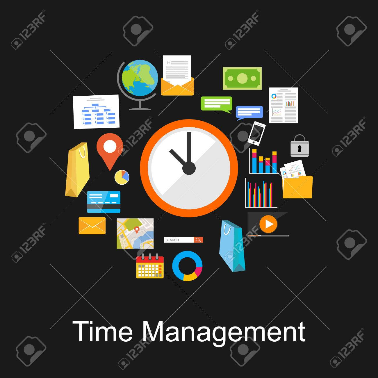 Time management concept illustration. - 45001925