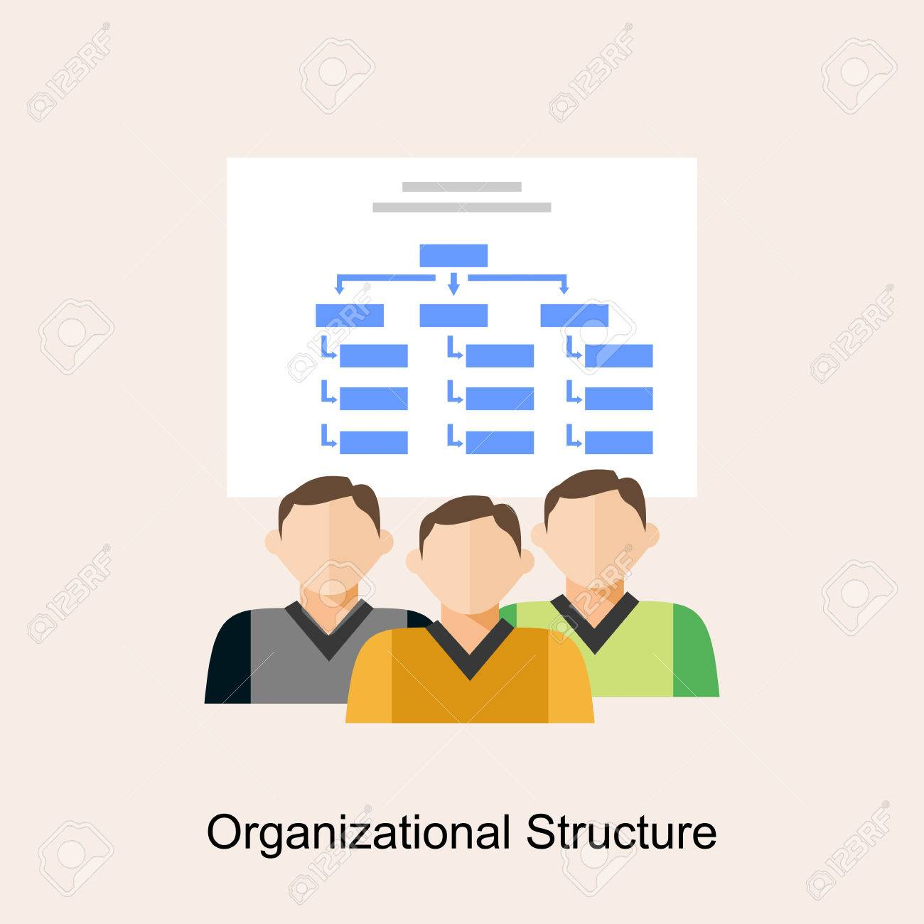 Organizational Structure Organization Diagram Flat Design Royalty Free Cliparts Vectors And Stock Illustration Image 59777531