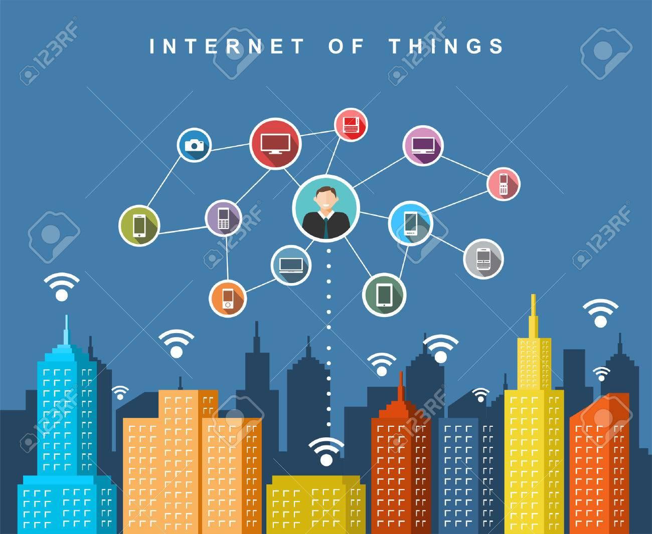 Cloud services. Smart city technology. - 60513594