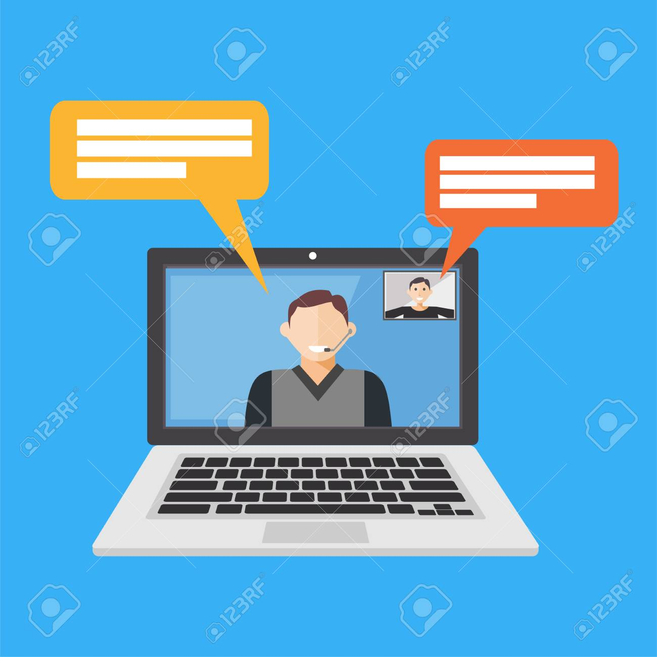 Video call. Video conference. Video streaming icon or symbol - 88760506