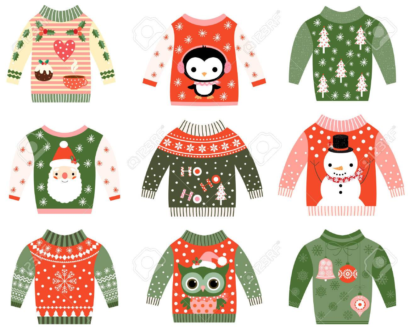 Cute Ugly Christmas Sweaters Collection Sweater Party Invitation