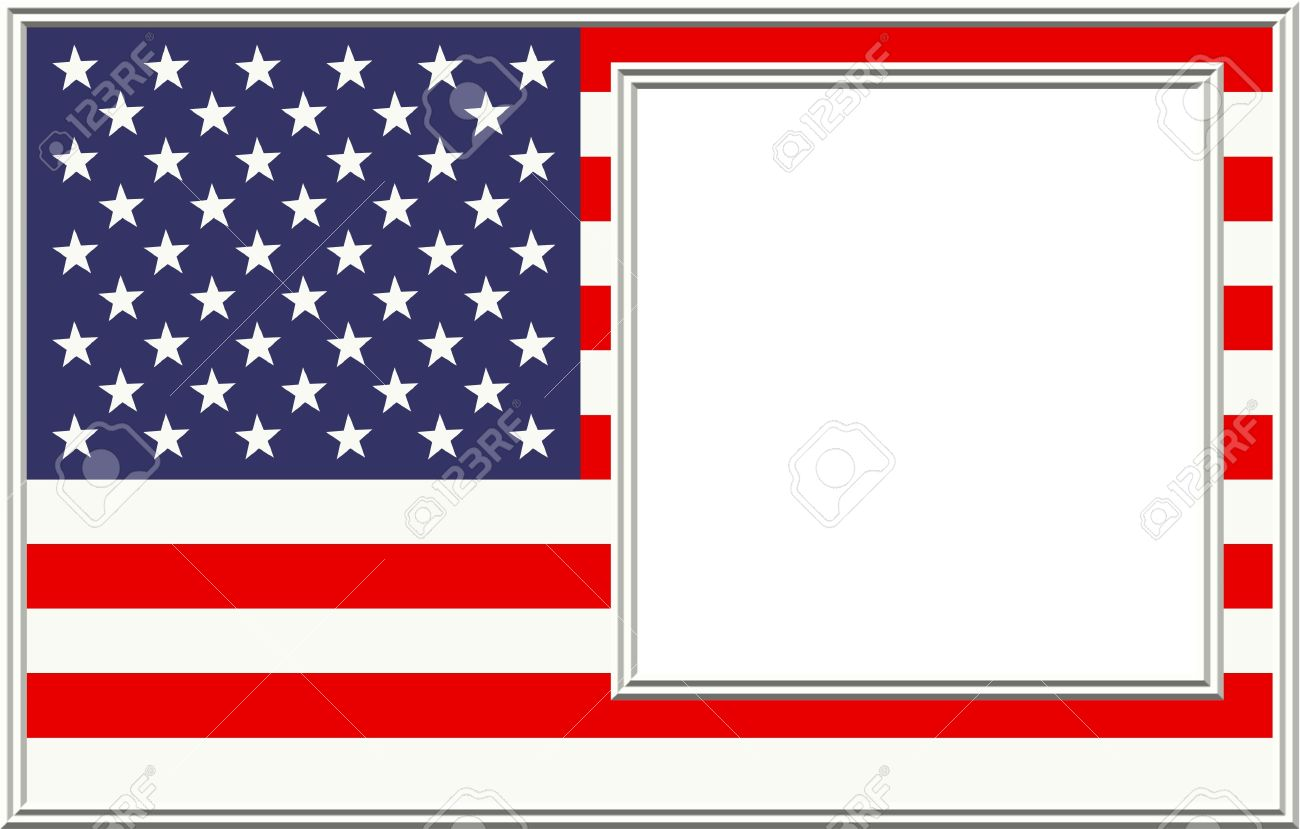 American Flag Frame Stock Photo, Picture And Royalty Free Image ...