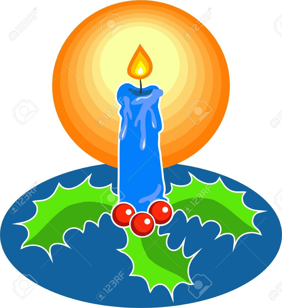 Christmas candle Stock Photo - 244435