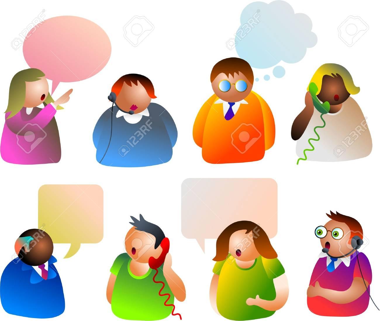 communication people icons Stock Photo - 261490
