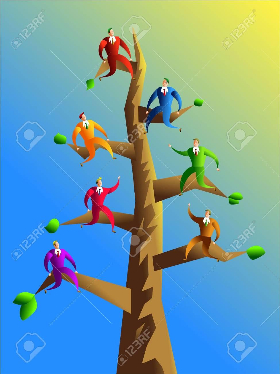 company branches - concept illustration Stock Illustration - 306247