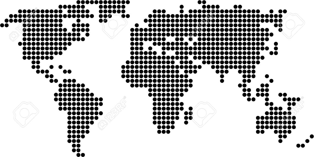 Map of the world made up of dots stock photo picture and royalty map of the world made up of dots stock photo 362499 gumiabroncs Image collections