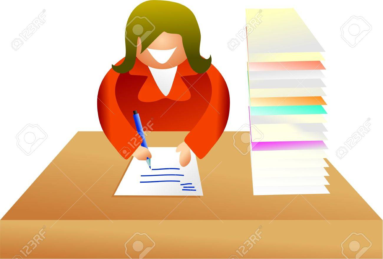 paperwork - icon people series Stock Photo - 382164