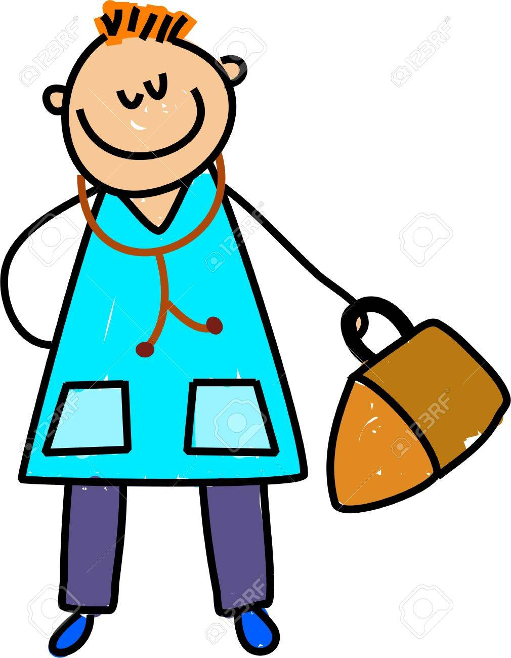 I Want To Be A Doctor When I Grow Up - Toddler Art Series Stock ...