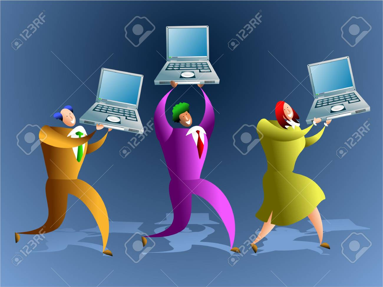 team of computer workers Stock Photo - 574907