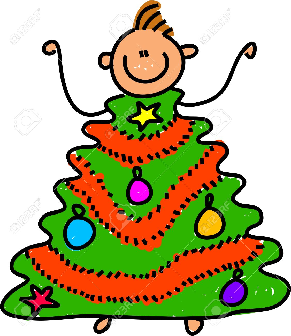 Christmas tree dress up images - Stock Photo Happy Little Boy Dressed Up As A Christmas Tree Toddler Art Series