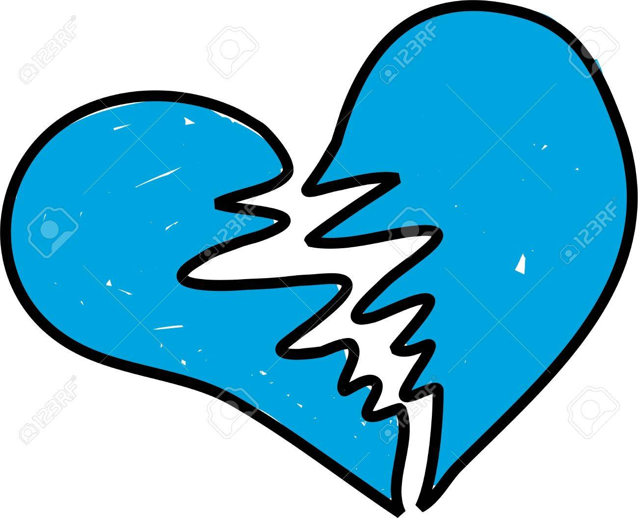 Teal Heart Clip Art clip art brake broken and