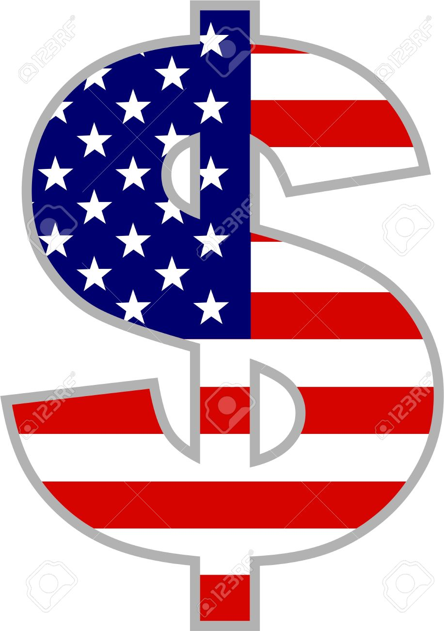 Dollar symbol with american flag isolated on white stock photo dollar symbol with american flag isolated on white stock photo 2527780 biocorpaavc Images