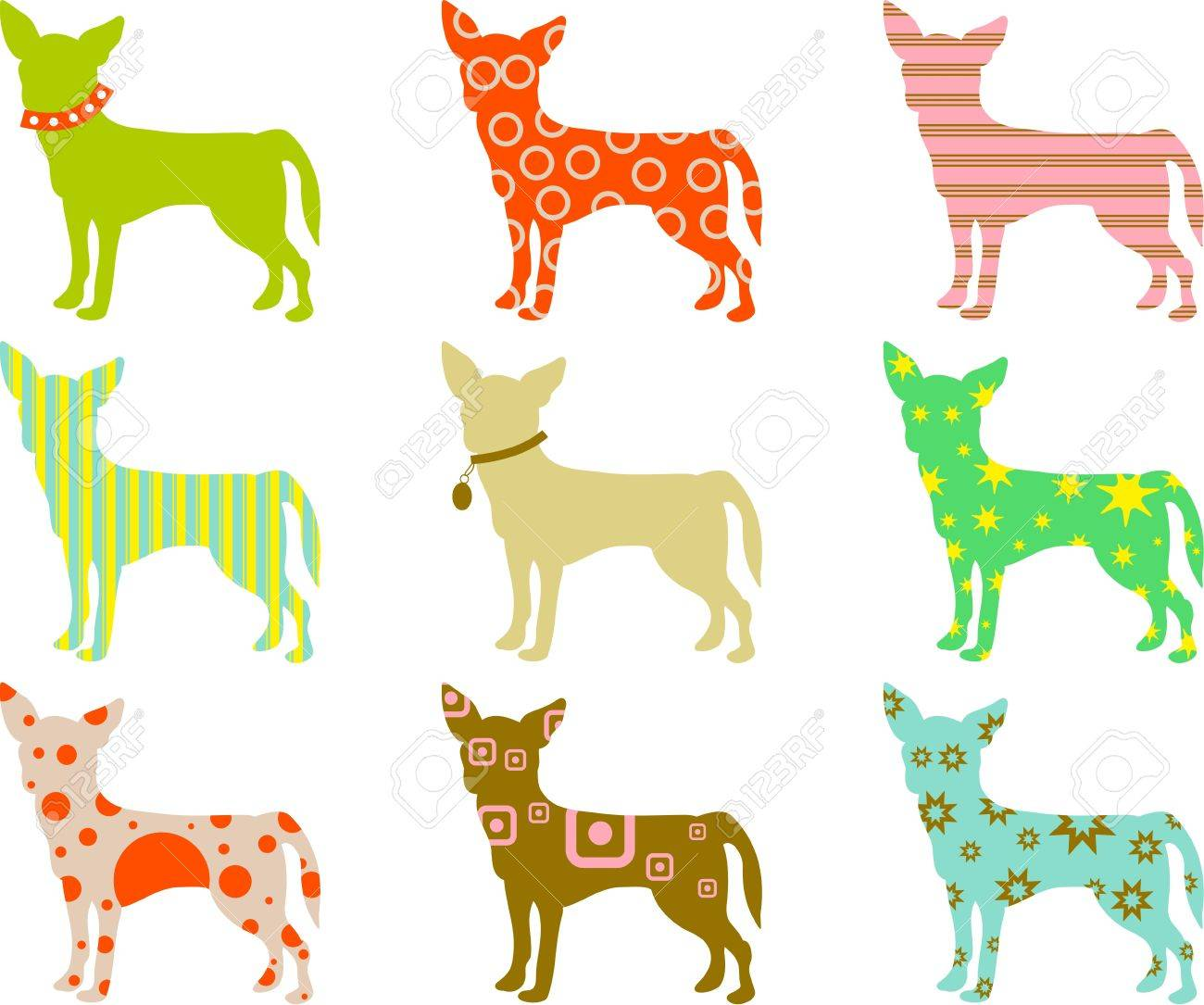 Abstract colourful patterned chihuahua wallpaper background design abstract colourful patterned chihuahua wallpaper background design stock photo 3322241 voltagebd Images