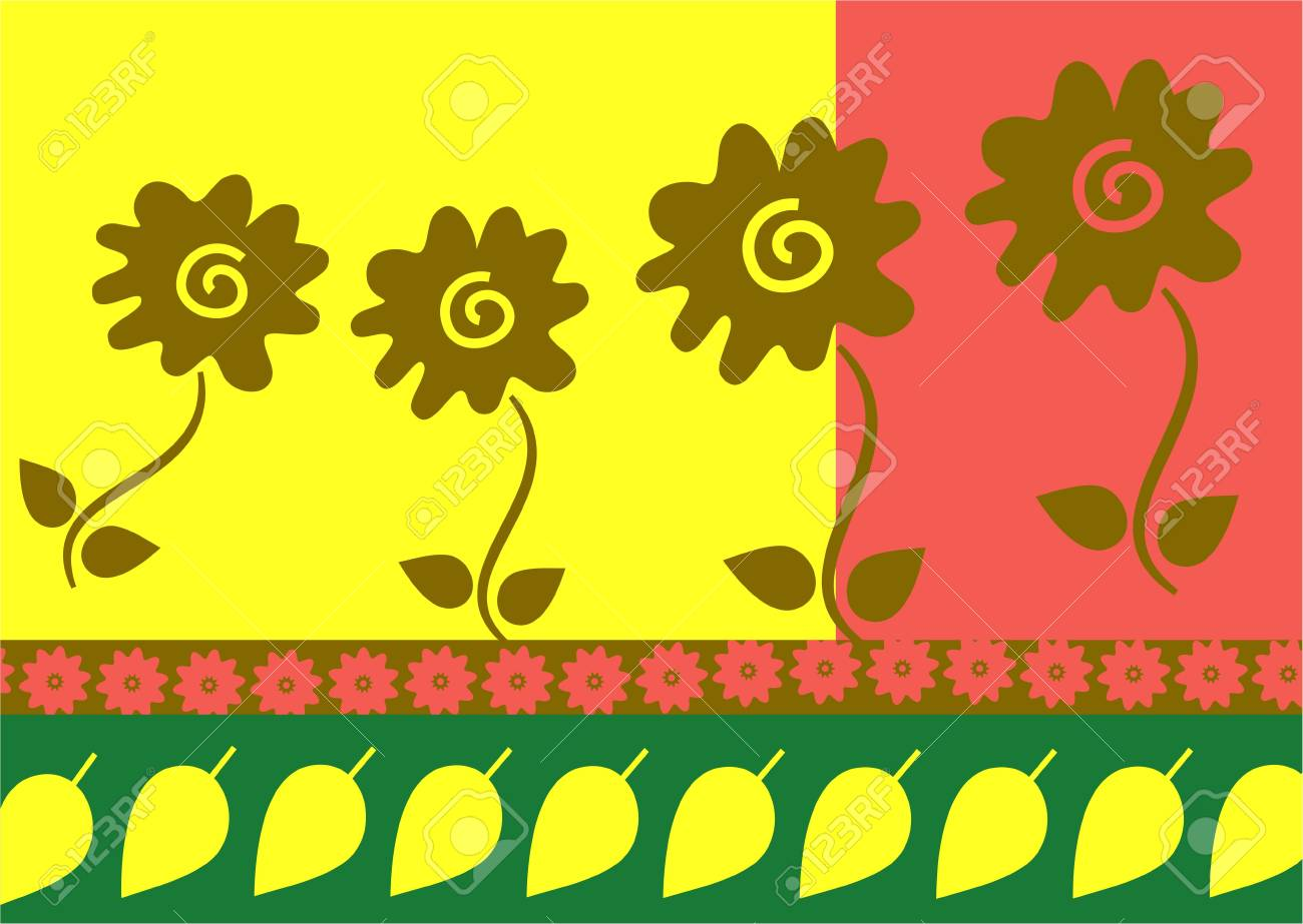 decorative abstract floral leaf wallpaper background pattern Stock Photo - 3454213