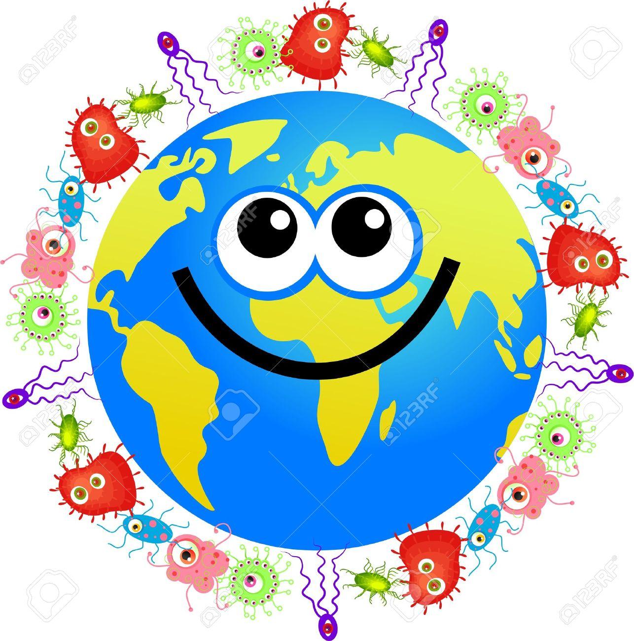 Happy World Globe Surrounded B...