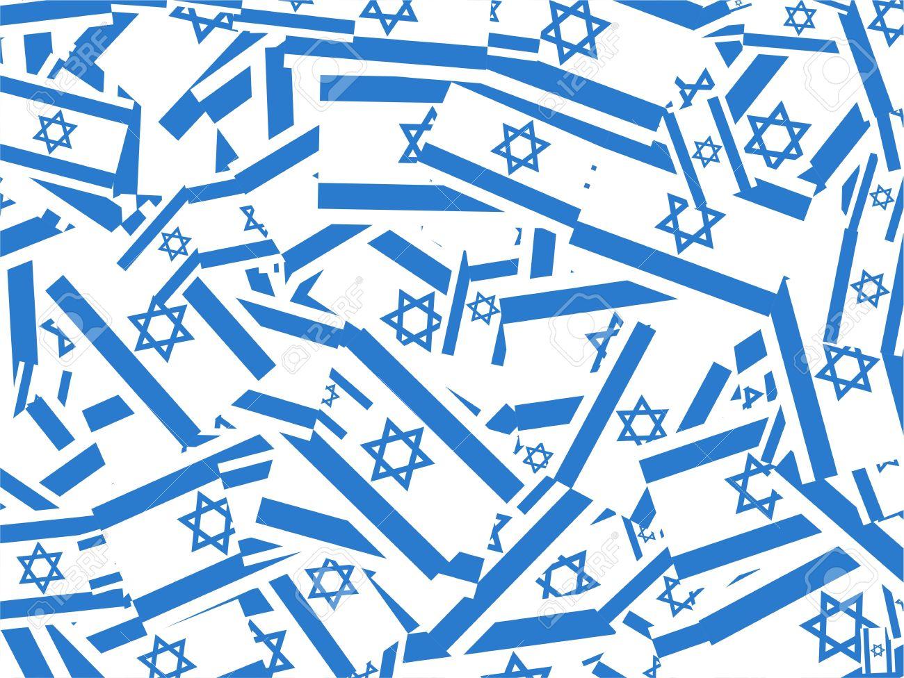 Jumbled up israeli flag wallpaper background design. Stock Photo - 3937589