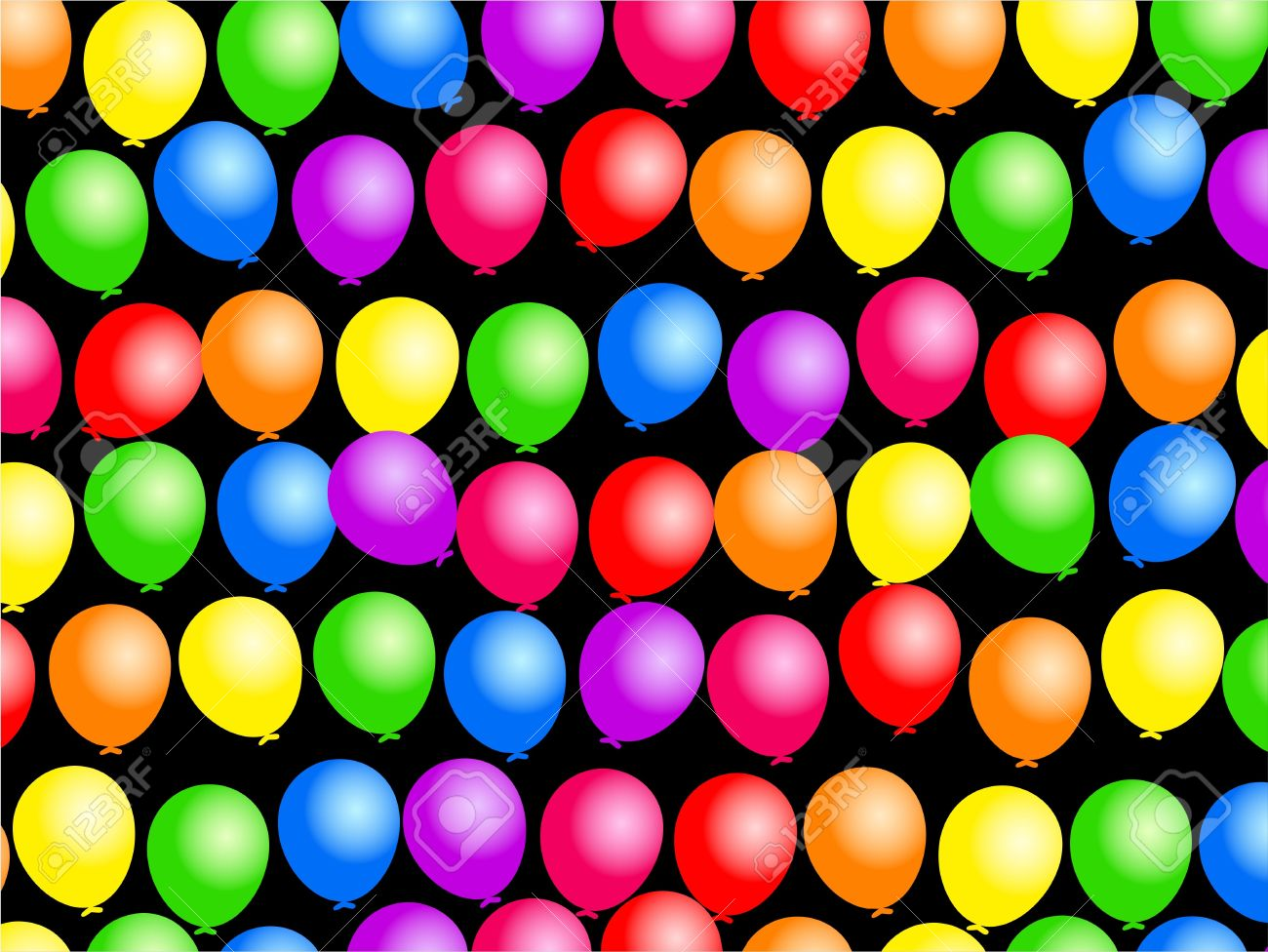 Colourful birthday party balloon wallpaper background design. Stock Photo - 4592709