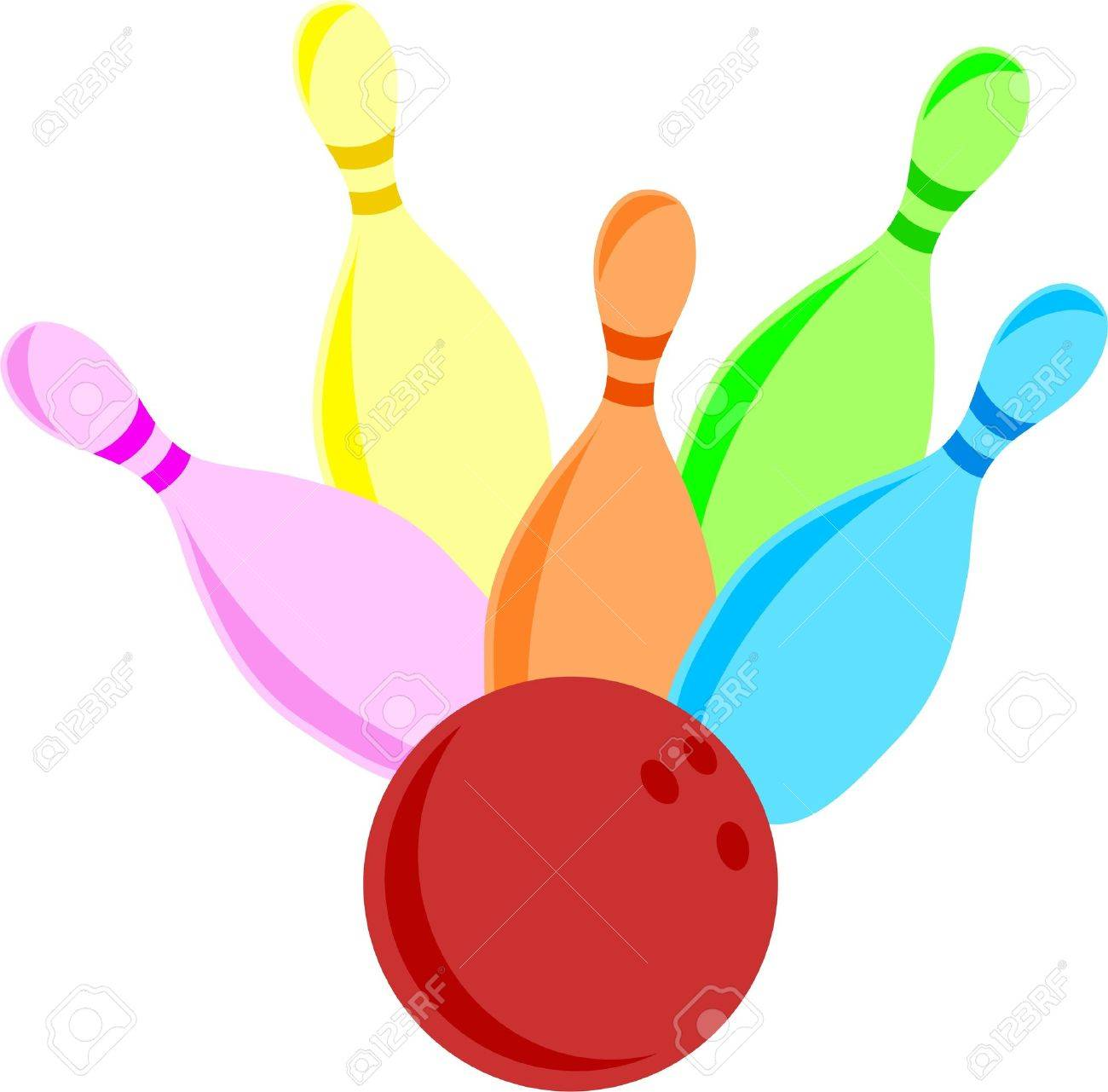 illustration of a set of colourful bowling skittles being knocked rh 123rf com skittles candy clipart skittles clip art free