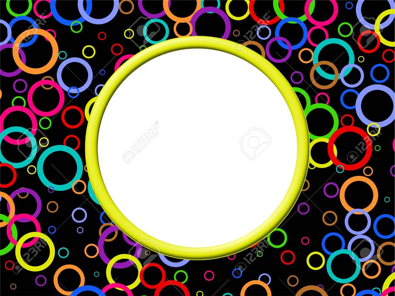 Artistic abstract photo border frame design with lots of colourful artistic abstract photo border frame design with lots of colourful retro rings stock photo jeuxipadfo Choice Image