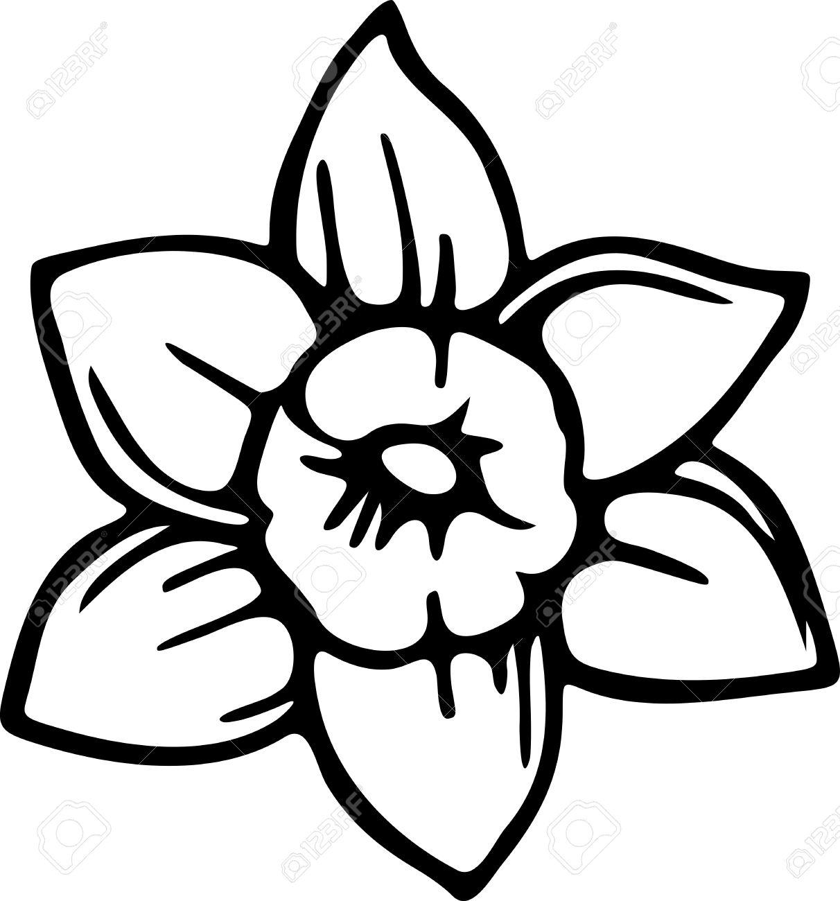dessin simple d'une fleur