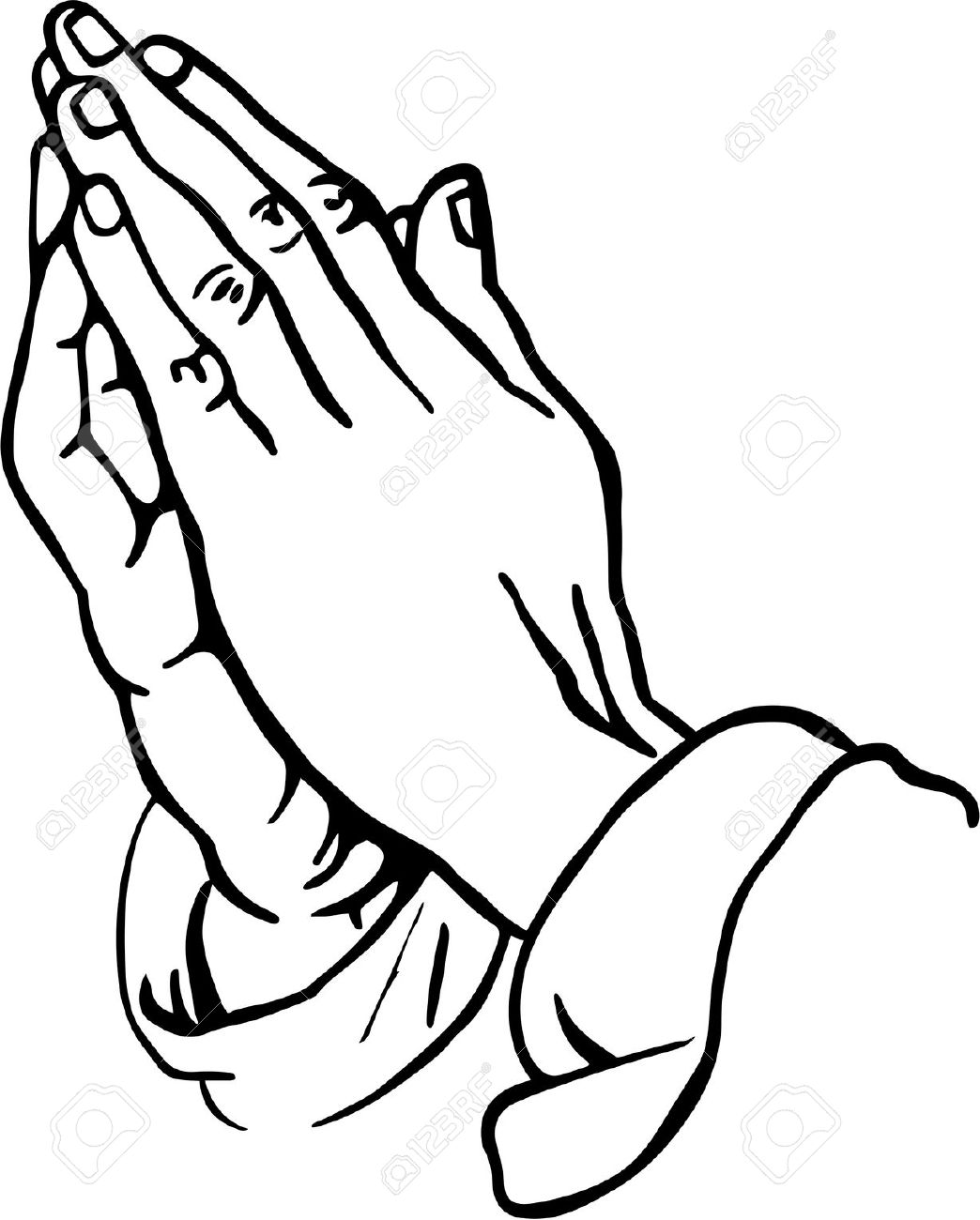 praying hands clipart stock photo picture and royalty free image rh 123rf com prayer clipart black and white prayer clip art for kids