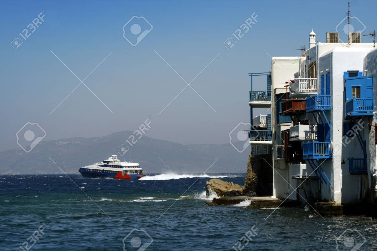 Area of Mykonos known as Little Venice - Greece Stock Photo - 2017694