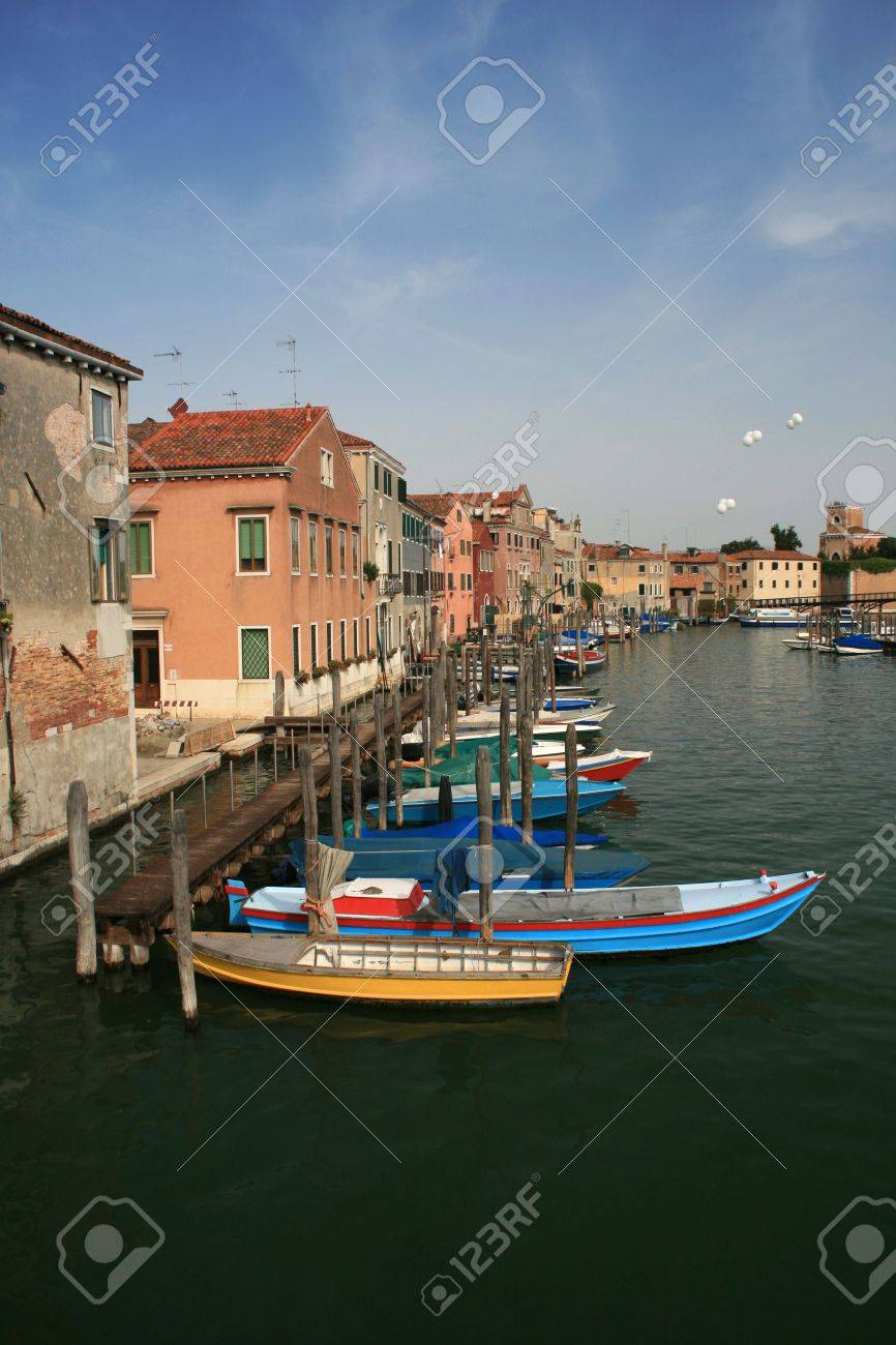 Venice canal away from the main tourist areas of the city. Italy Stock Photo - 3616570