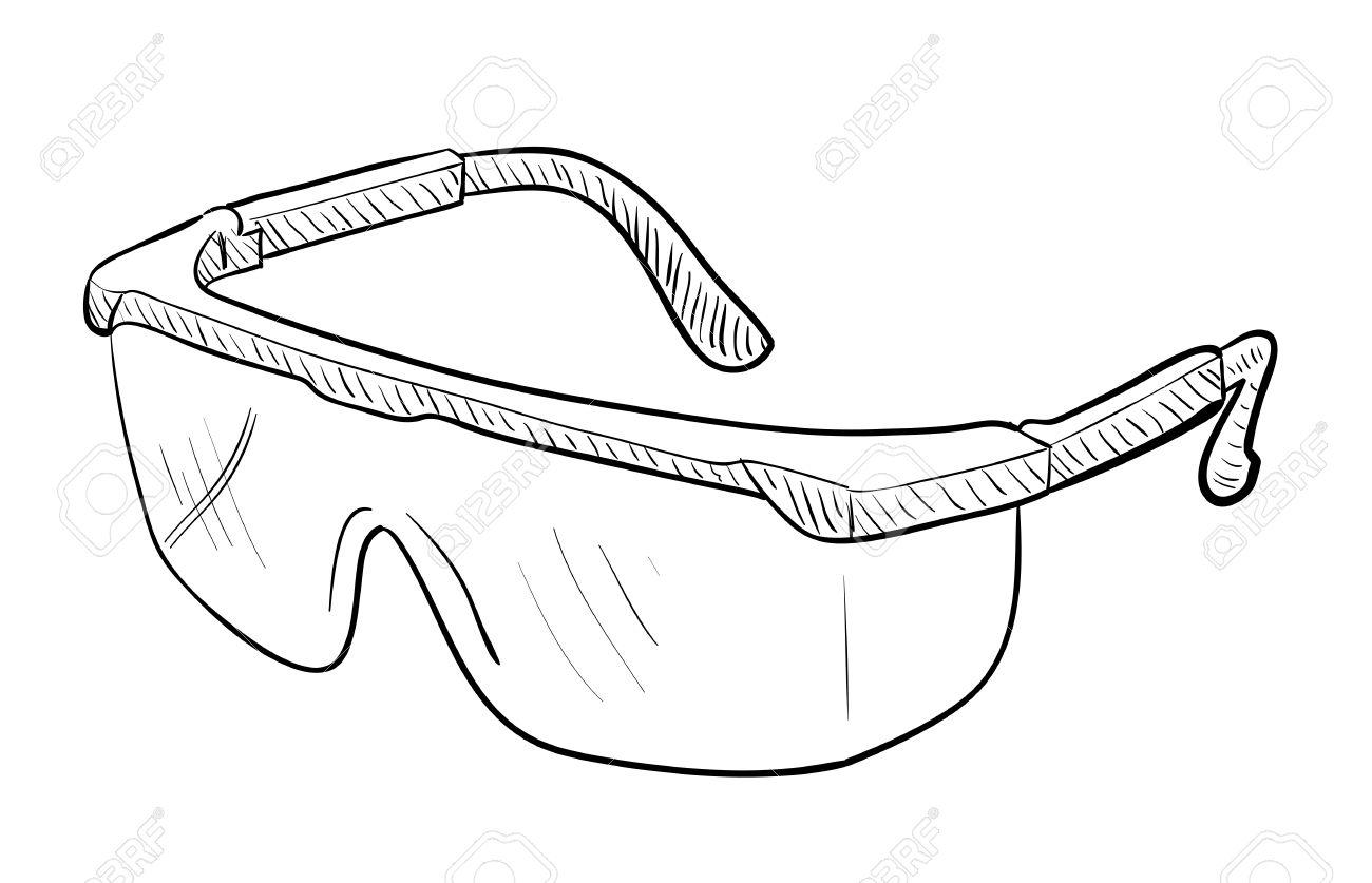Dibujo gafas de seguridad Foto de archivo , 50507702