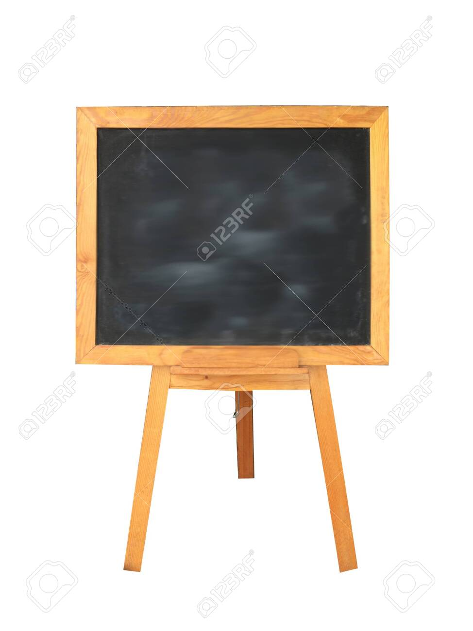 wooden black board on white background - 138579675