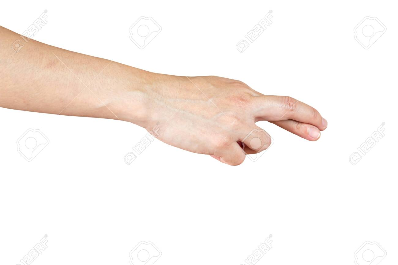 human hand show finger cross and lie symbol white isolated background - 139699210