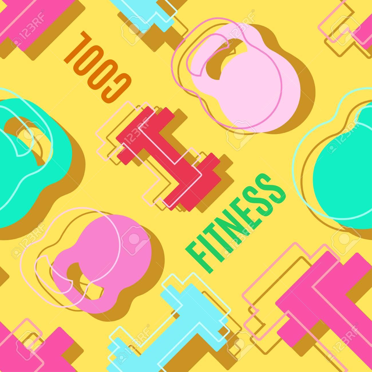 modern style fitness sport banner color design vector illustration