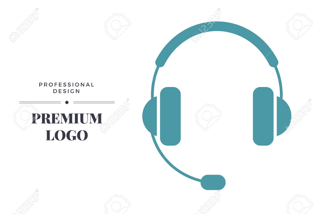 modern linear icon design headphones with microphone call center royalty free cliparts vectors and stock illustration image 66450300 modern linear icon design headphones with microphone call center