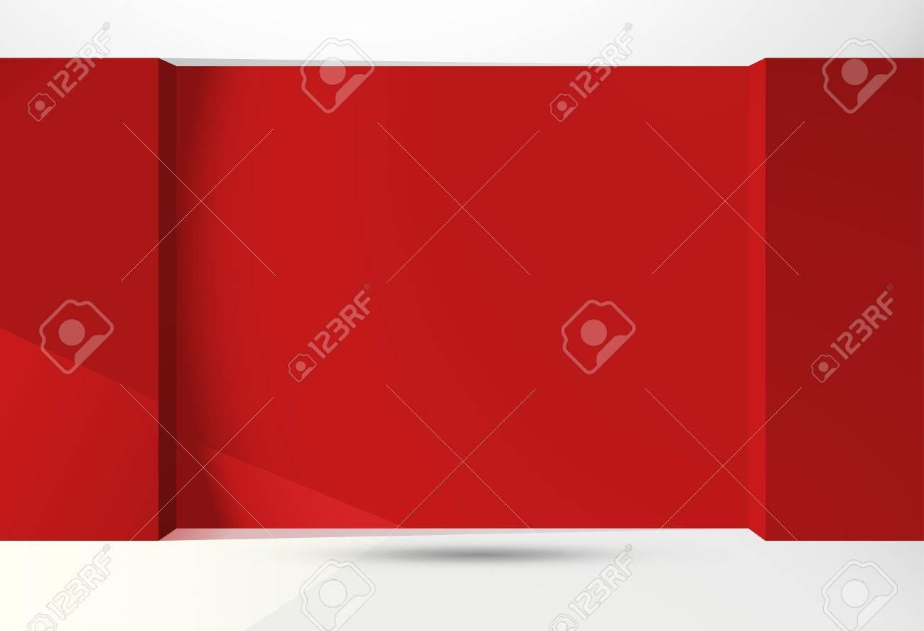 Vide pièce rouge d pour la vente de meubles ou de design d