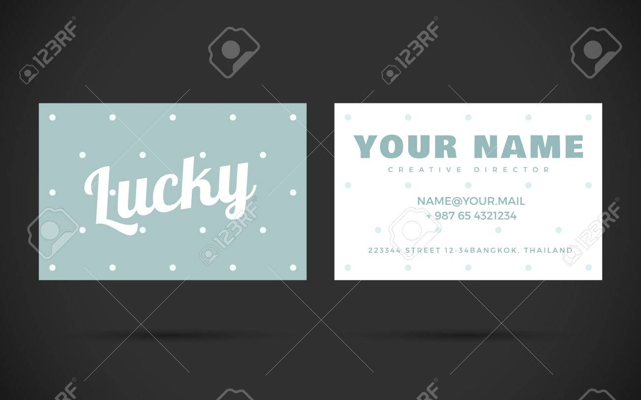 Modern Business Card Design Template. Vector Elements With Text ...
