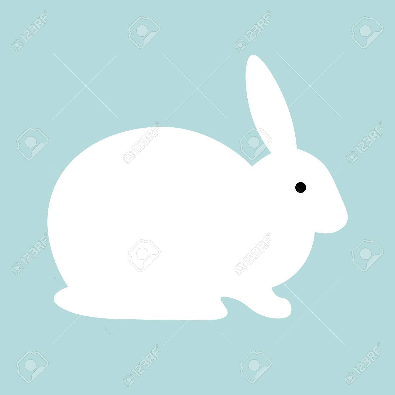 rabbit design background vector flat cute template simple