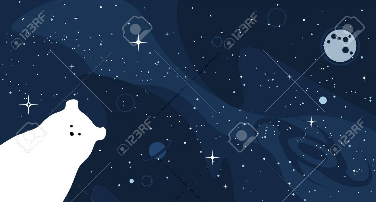 polar bear design background. vector flat cute template, simple