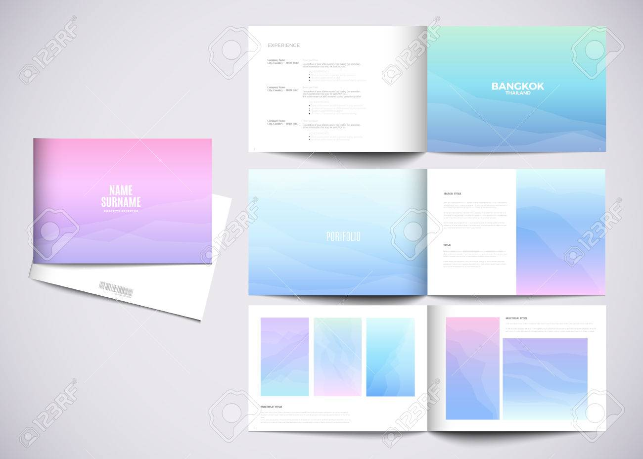 Graphic Design Studio Portfolio Template White Creative Pages