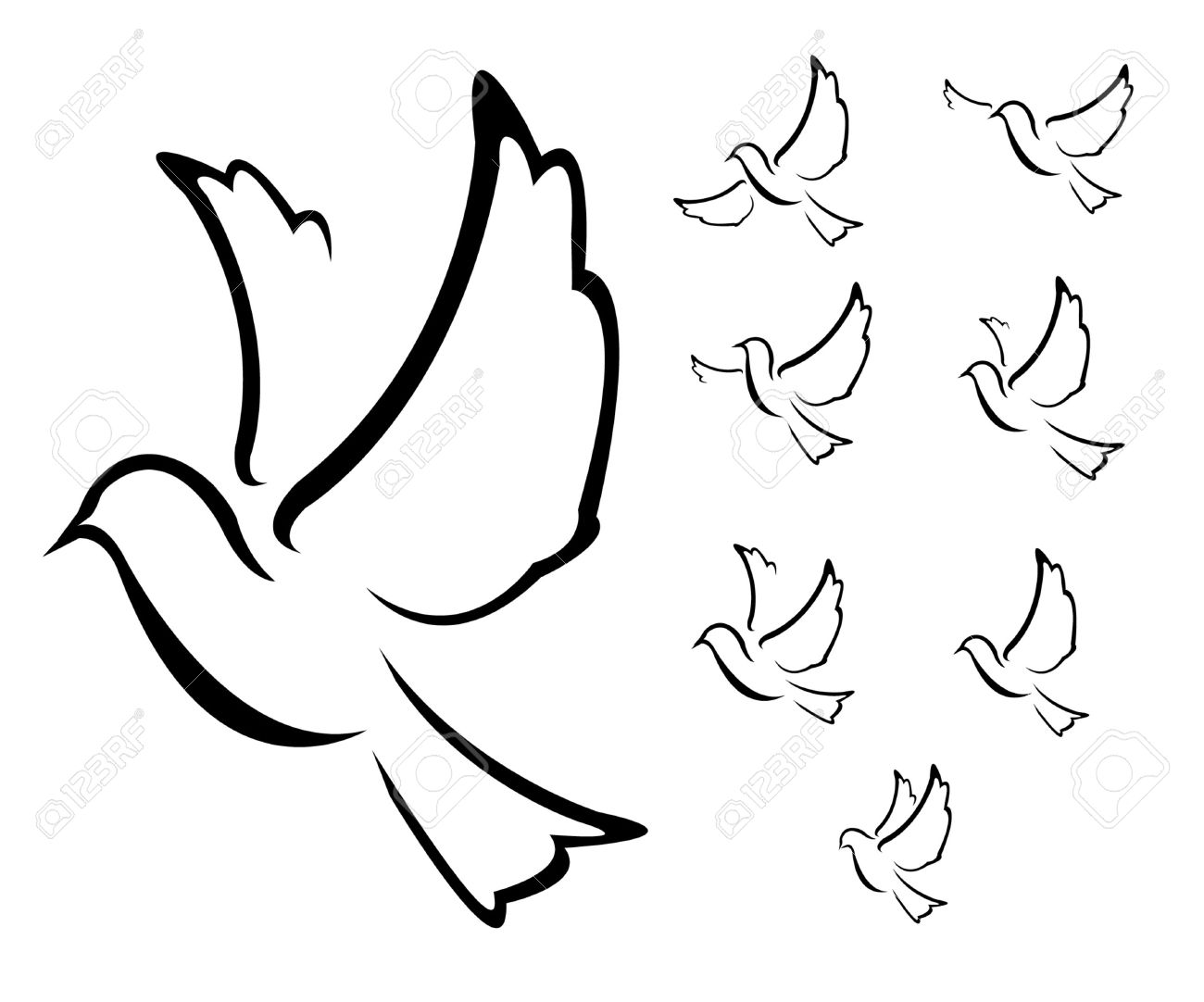 Dove Illustration Royalty Free Cliparts Vectors And Stock