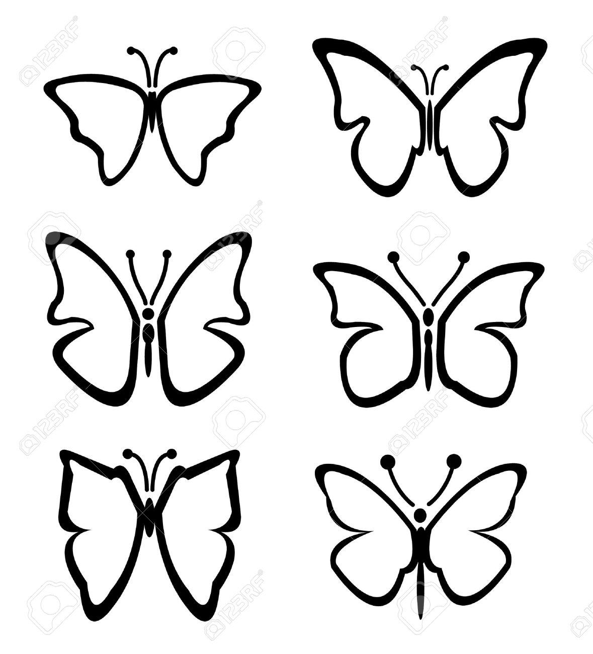 dessin papillon illustration ensemble de papillon illustration