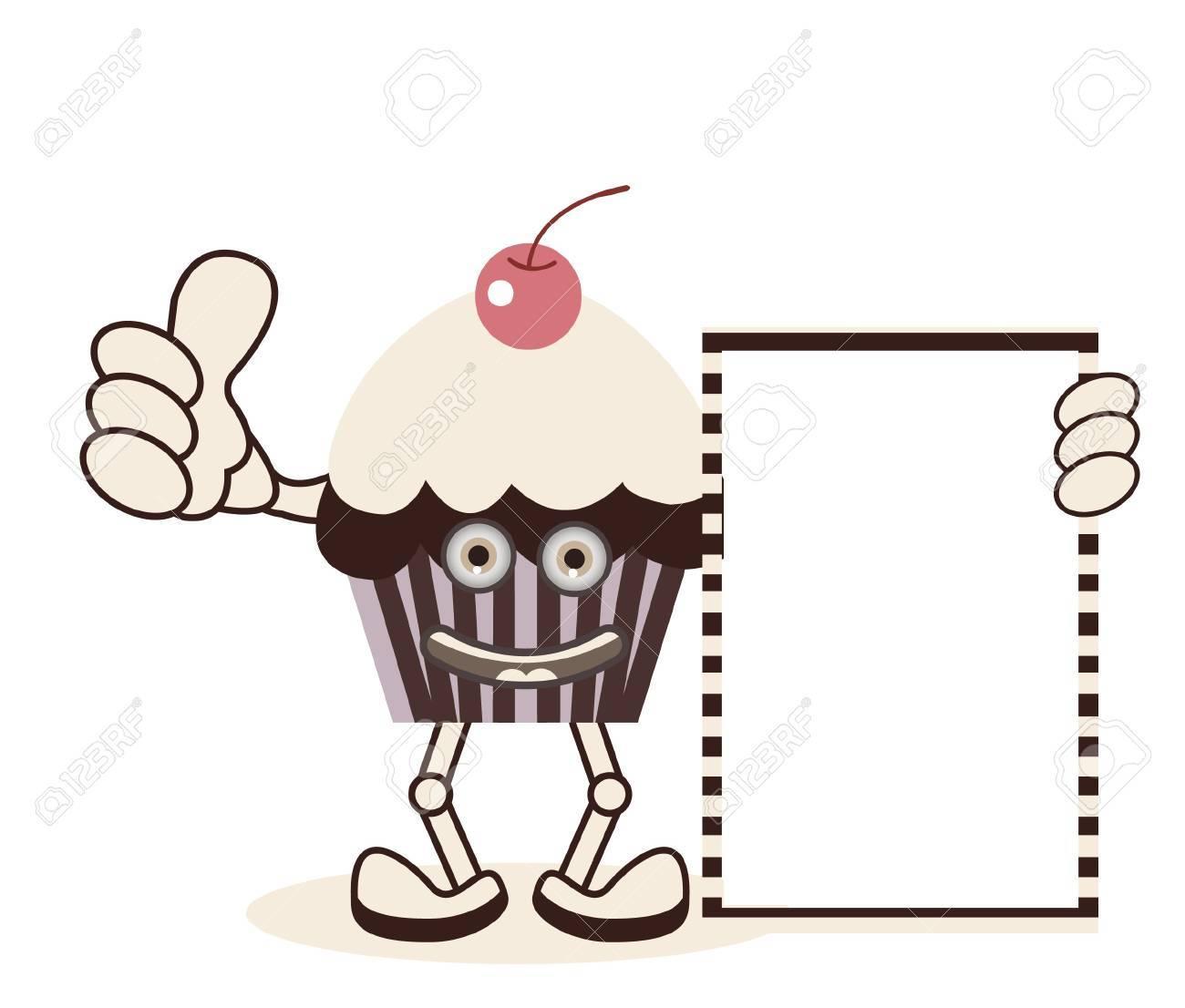 Sweet Cupcake Banner Stock Vector - 13690448