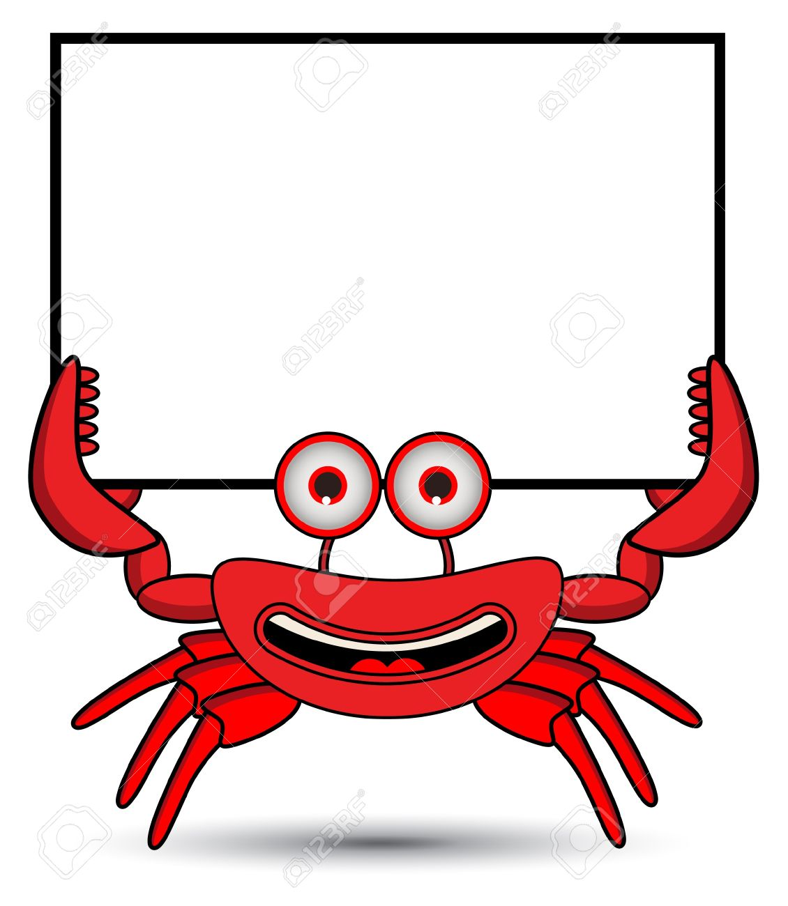 Crab Banner Stock Vector - 13690982