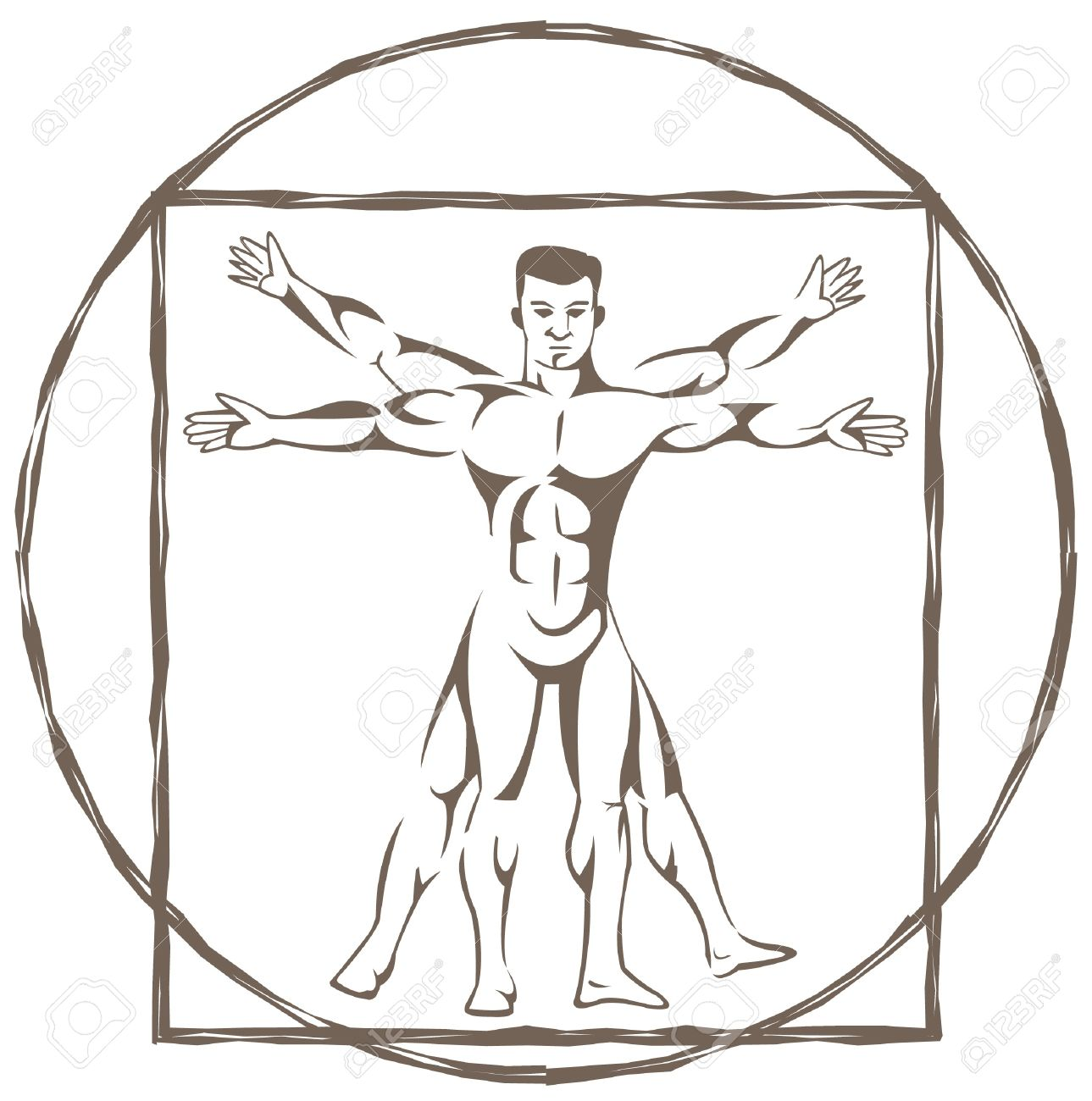 vitruvian man Stock Vector - 14291284